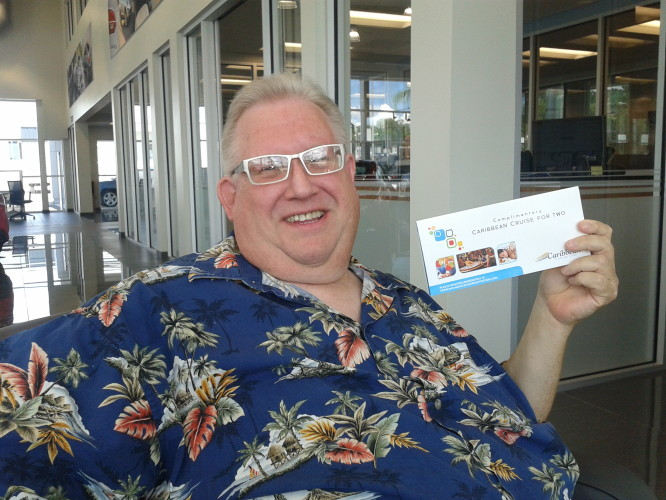 "Brad Butler Wins at Lakeland Automall ""Test Drive Your Way to The Caribbean"""