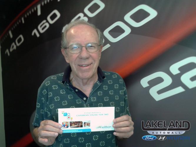 David Gill of Lakeland Florida Wins 1 of 10 Caribbean Cruises form Lakeland Automall Ford & Hyundai
