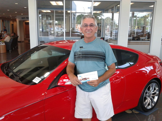 "Donald Greever of Lakeland Florida wins at Lakeland Automall ""Test Drive Your Way To The Caribbean"" Contest"