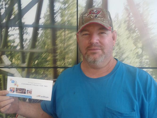 James Grout of Lakeland Florida Wins Caribbean Cruise at Lakeland Automall Ford & Hyundai