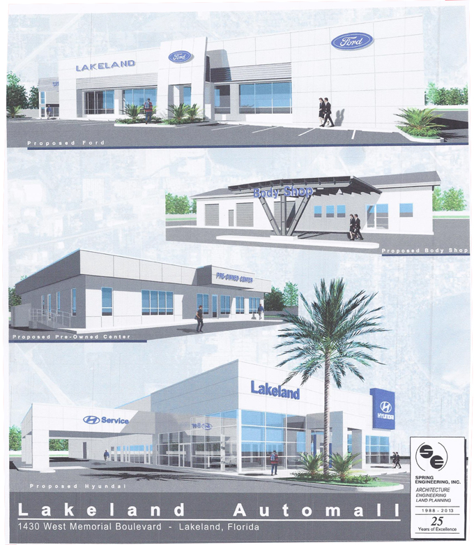 Lakeland Automall Ford & Hyundai Artists Renditions
