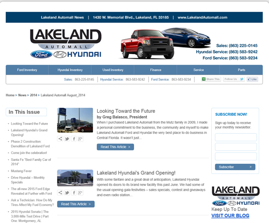 The Lakeland Automall August Newsletter is out! Did you get your copy?