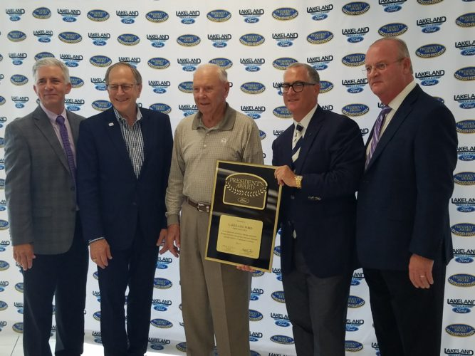 It's Official: Lakeland Ford Receives President's Award for Exceptional Sales and Service