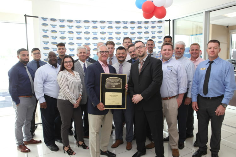 Ford President's Award awarded to Lakeland Ford for Customer Satisfaction